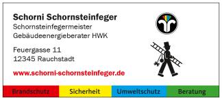 Adressaufkleber für Schornsteinfeger