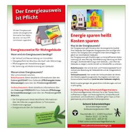 Flyer Energieausweis für Schornsteinfeger