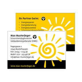 Visitenkarten für den Schornsteinfeger