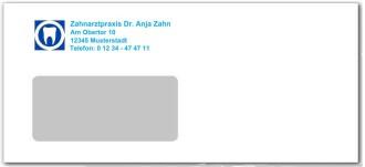 Briefumschlag DINlang für Zahnärzte