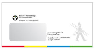 Briefumschläge Großformat DINlang C6/C5 114 x 229 mm