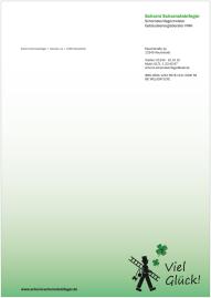 Briefbogen für Schornsteinfeger