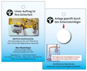 Preüfanhänger zur Gashausschau für Schornsteinfeger